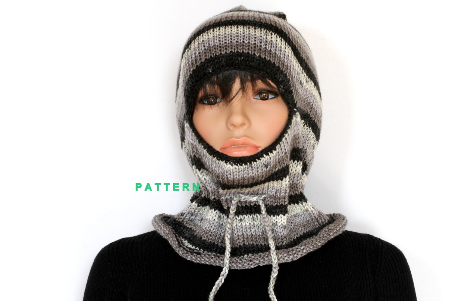 Old Fashioned Knitted Ski Mask Pattern Image - Sewing Pattern for ...