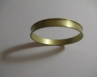 "Raw Brass Cuff channel bracelet Bangle  blank - 5/16"" wide x 8.5"" around"