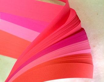Bright Pinks~ Weaving Paper Strips (100 strips)