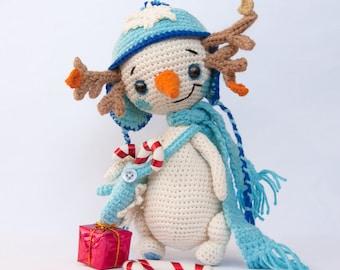 PATTERN – Snowman Lu - crochet pattern, amigurumi pattern, pdf