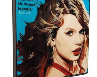 Taylor Swift Pop Art Poster Painting Print Photo Framed Canvas Music Singer