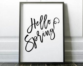 Hello Spring Decor, Spring Decorations, Spring Art Decor, Easter Spring Art, Spring Art Decoration, Spring Art Wall, Spring Art Poster