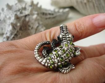 Vintage Crocodile Ring