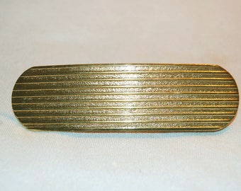 Barrette Hair Clip, Large Gold Metal, Vintage old jewelry