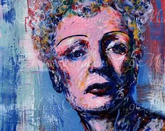 Edith Piaf La vie en rose colorful art print for decorating your home, work space, shop, bar, nightclub or give as a gift