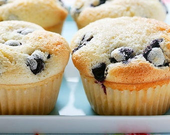 Lemon and Blueberry Muffins-Sweet Breads-Fruit Muffins-Soft Muffins-