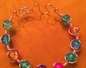 Wire Wrapped Gemstone Bracelet