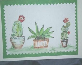 Southwest Trio watercolor note card