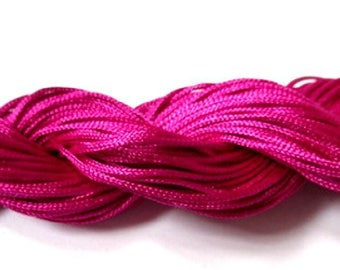 25 m nylon thread woven fuchsia 1 mm