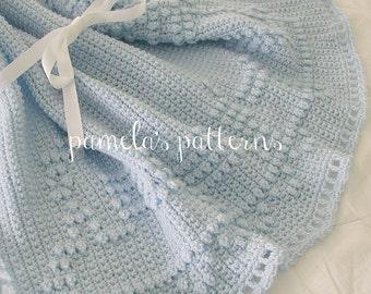 Crochet Train Around the Blanket PDF ePattern 34 x 30 inches (86 x 76 cm)