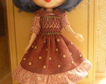 BLYTHE Smock dress, mauve