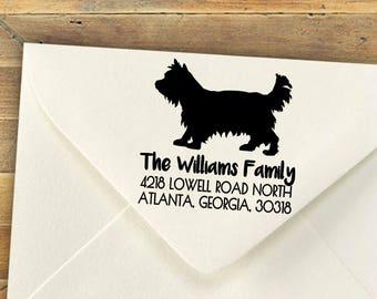 Custom Stamp, Yorkshire Terrior, Yorkie, Dog Stamp, Self-Inking Rubber Stamp, Personalized Stamp, Return Address Stamp, Wedding Gift