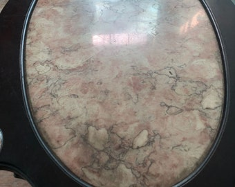 antique marble wood top coffe tea table