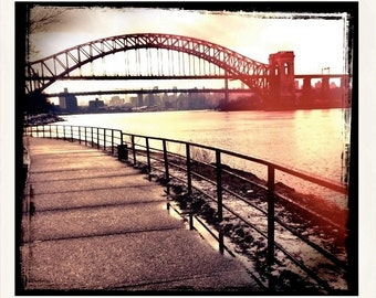 Hell Gate, Bridge, Astoria, Queens, NYC, Photography, Astoria Park, FREE SHIPPING!
