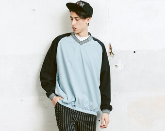 Vintage Sports Sweater . Men's 90s Sweatshirt Golf Sweater Blue Sweater Athelisure Activewear Gift For Man. size Large L
