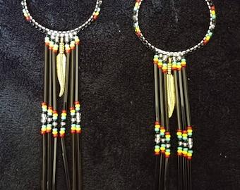 Jamaican n native american mix inspired hoops.