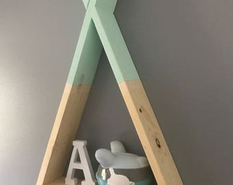 Teepee Shelf | Kids Room Decor | Floating Teepee Shelf | Wall Decor