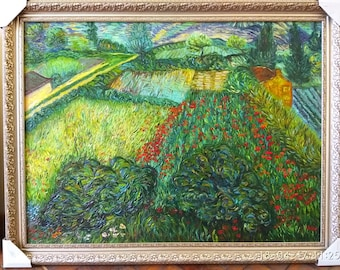 Field with Poppies 1889 Vincent van Gogh COPY