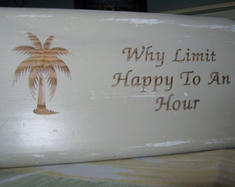 Happy Hour Sign Housewarming Present Rustic Sign Wooden Sign Custom Wood Sign Wood Signage Rustic Home Decor Housewarming Gift Wood Sign