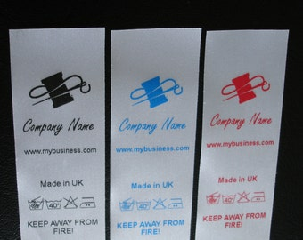 100 Custom made care labels