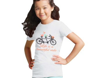 Life is a Beautiful Ride Girls T-Shirt