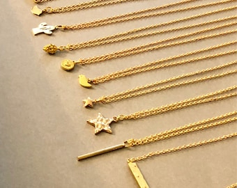 14K Gold Filled Tiny Layering Charm Necklaces / Trending / Fashion / Gifts / Bridesmaid / Women's