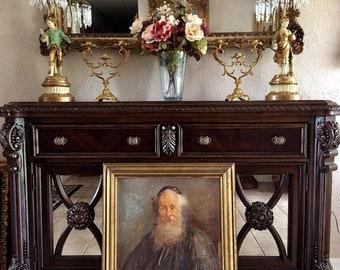 Sale Antique Vintage Oil Painting Portrait of a Rabbi Jewish Art O/B Signed Framed