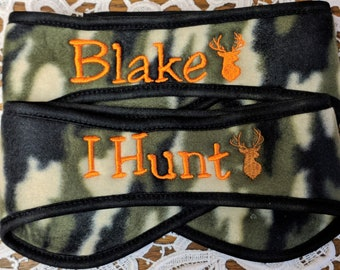 Embroidered Personalized Hunter Hunting DEER Winter Polar Fleece Headband Ear Warmer - Only 5 left