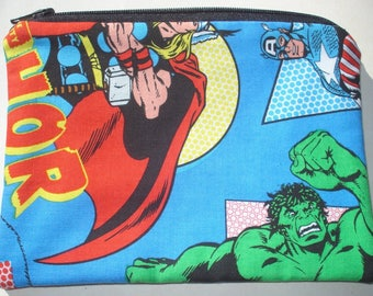 CLEARANCE Superheroes Zipper Pouch - Comic Books, Geekery.