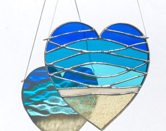 Handmade Love Beach Stained Glass
