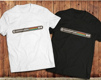 Commodore 64 retro T-Shirt, Vic 20,Vintage gaming PC, classic 1980's,