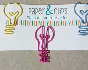 1 Light Bulb Paper clip Bookmark