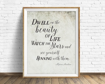 "quotes, inspirational quote, quote prints, instant download art, printable art, instant download prints, rustic art  - ""The Beauty of Life"""