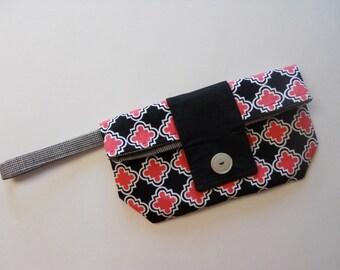 Rosa und schwarz schicke Foldover Wristlet Clutch Verkauf