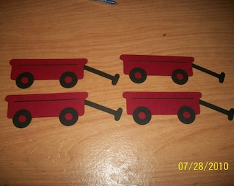 Wagon die cuts- set of 4