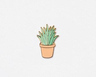Aloe Soft Enamel Lapel Pin