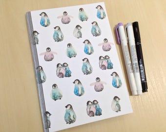 A5 Space Penguins Bullet Journal Notebook