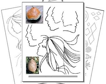 Printed Pyropaper Southwestern Borders, Faces (Set 4)