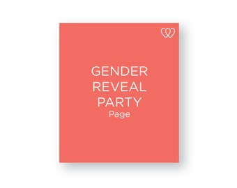 Gender Reveal Party Page | Additional Baby Book Page