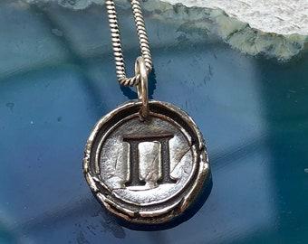 PI Charm/Pendant - Fine Silver