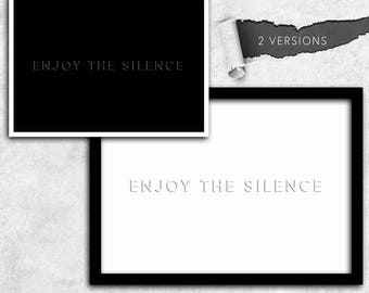 Depeche Mode enjoy the silence instant download A1 A2 A3 A4 A5 20 x 16-24 x 18-36 x 24 70 x 50 90 x 60 + US sizes