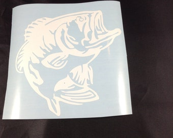 Bass Fish Decal 4x4