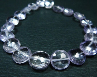 50% Off 5 Matched pair  10 pieces , Finest Quality, Pink Amethyst Faceted Coins Shape,12mm Long