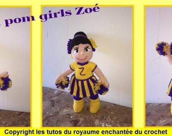 french tutorial of the doll Zoe cheerleaders