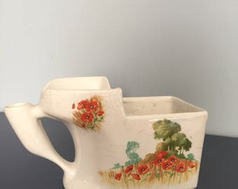 B&K Bakers and Kent England Shaving Mug R.D 759139 vintage antique poppies dad fathers day gift Hipster