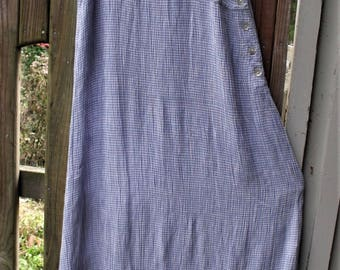 Funky Sundress/ Cotton Stretch Plisse/ Blue-White Check/ Thrifted Funwear/ Summer Fun/ Shabbyfab Thrift/ Embroidered