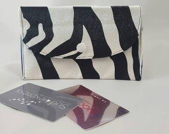 faux Zebra leather wallet