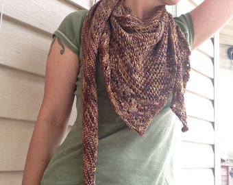 Asymmetrical triangle shawl, triangle scarf, lace triangle shawl