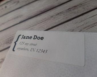 Address label/ envelope label/ Return address label/ sticker 30 per sheet