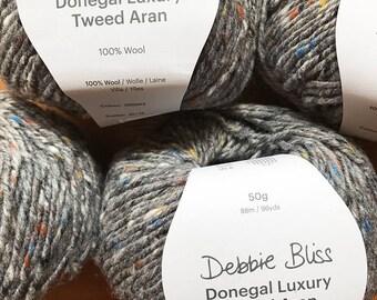 Debbie Bliss - Donegal Luxury Tweed Aran - One ball of wool (50 grams) - Pebble - Colour: 360042